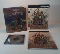 Age Of Empires~Microsoft 1997~Original Big Box CD Windows 95~Complete~Gift 👀⛄