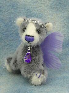 "2"" OOAK Micro Miniature Pretty Artist Fairy Bear *Bramber Bears* Fiona"