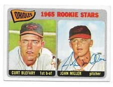 JOHN MILLER 1965 TOPPS AUTOGRAPHED SIGNED # 49 BALTIMORE ORIOLES DECEASED
