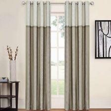 Rothsville Geometric Blackout Grommet Single Curtain Panel - Tan - New