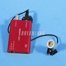 Dental Portable LED Head Light Battery lámpara de la linterna for lupas gafas
