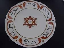 Vtg French MASONIC Symbols Faience Art Pottery Handmade Handpainted Plate 1 MINT