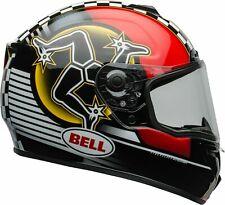 BELL CASCO INTEGRALE MOTO HELMET SRT ISLE OF MAN 2020 BLACK RED TAGLIA L 60 CM