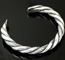 Mens Sterling Silver Bracelet Heavy Rope Style Bangle Chain Rider Hip Hop b21