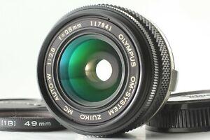[Mint] Olympus Om-system Zuiko Mc Auto-w 28mm F/2.8 Mf Lenti Per OM-1 Da Japan