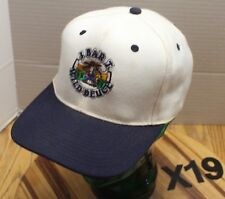 J BAR T WILD DEUCE GREAT FALLS MONTANA HAT WHITE/BLUE STRAPBACK VGC X19