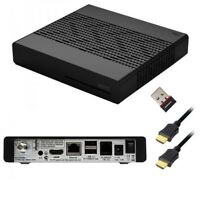 VU+ Plus Zero 1xDVB-S2 Tuner Linux FullHD Sat Receiver Schwarz IPTV + WLAN Stick