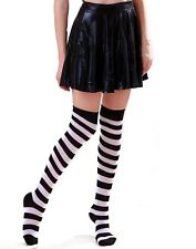 3c08fb422 Women s Striped Thigh High Sexy Over The Knee Stockings Extra Long Opaque  Socks