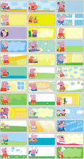 120 Peppa Pig pictures personalised name label (Small size)