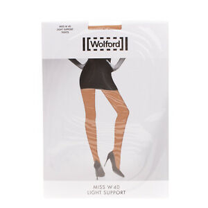 WOLFORD Miss W 40 DEN Light Support Tights Size M Gobi AW 2020/21
