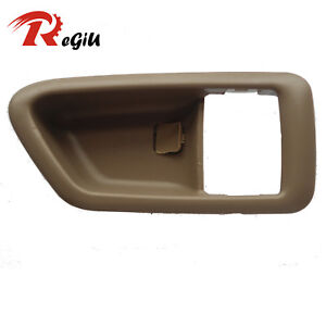 For Toyota Camry Inside Inner Right Side Door Handle Trim Beige Cover 1997-2001