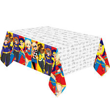 DC SUPER HERO GIRLS SQUARE PARTY PLASTIC TABLECOVER TABLEWEAR DECORATION