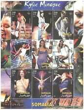 Somalia Stamps 2002 Kylie Minogue music celebrity sheet with 9 stamps / MNH