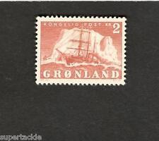 1950 Greenland SCOTT #37 Polar Ship  2 Krone MH stamp
