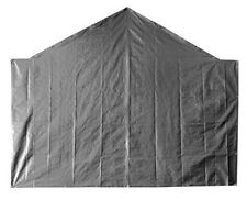 18' Opening End Tarp Heavy Duty 12 mil Canopy Carport Back Wall Panel Silver