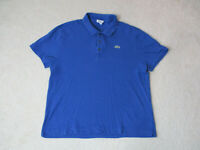 Lacoste Polo Shirt Adult Extra Large Size 8 Blue Green Casual Rugby Crocodile