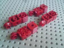 2x2conagujeros haga clic en vertical Bisagra & Puño-Rojo Oscuro x4