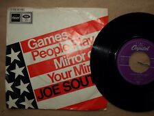 """jOE sOUTH """" Games Paople olay """" Mirror of your Mind """" Capitol  Vinyl 7"""""""