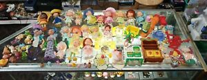 1980's Vintage Lot of Strawberry Shortcake Dolls Toys and Accessories 1983