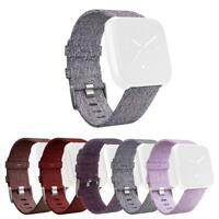 Canvas Watch Band Wrist Strap Belt Replacement for Fitbit Versa Smart Bracelet