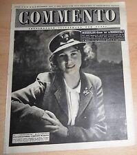 SETTIMANALE ILLUSTRATO PER TUTTI   COMMENTO  N°  41 1947  ORIGINALE !!!