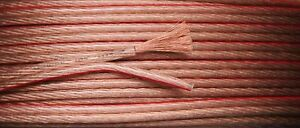 10m 2x 4mm 12AWG Loud Speaker Cable Multi Stranded Copper Clad Audio Wire