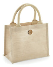WESTFORD MILL MINI JUTE BAG ECO REAUSABLE COTTON HANDLES LUNCH STORAGE GIFT TOTE