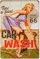 "Garage Retro Decor Full Service Car Wash Metal Tin Decorative Sign 8"" x 12"""