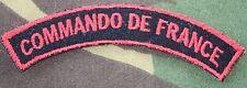 insigne de manche des  commando de France en tissu