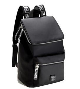 Versace 2021 Men's Collector Backpack (Black/Silver)