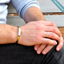 Mens Gold Cuff Bracelet / Personalized Wristband for Men / Anniversary Gifts
