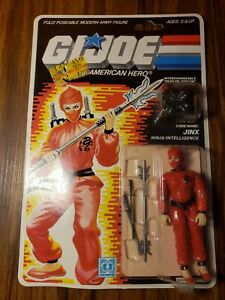 GI Joe JINX 1986 MOC Hasbro Vintage New Factory Sealed Action Figure MOSC