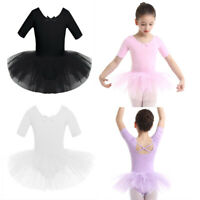 UK Kid Girl Ballet Dance Dress Tutu Skirt Gymnastics Leotard Ballerina Dancewear