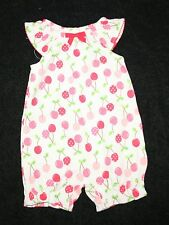 New Gymboree Polka Dot Cherry Print Bubble Romper Outfit 6-12m NWT Girls Outfit