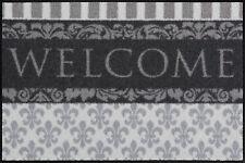 Salonloewe Fußmatte Welcome Lilien 50 x 75 cm stilvoller waschbarer Türvorleger