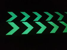 Green glow in dark safety marker, daytime yellow &green at night both glow green