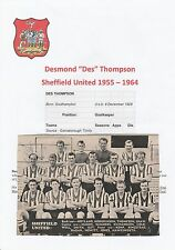 DES THOMPSON/CLIFF MASON SHEFFIELD UNITED ORIGINAL HAND SIGNED MAGAZINE PICTURE