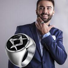 Men- Free Mason- Masonic-Ring- 316L  Alloy Plated Ring Fashion Jewelry