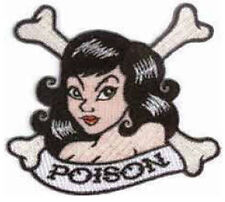 Iron On/ Sew On Embroidered Patch Badge Poison Ivy Cross Bones