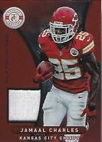 2012 Totally Certified Red Materials #38 Jamaal Charles Jersey /299 - NM-MT