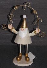 Papá Noel Metal Decoración de la Navidad Ventana 19,5 13 6 cm