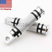 HM Chrome Foot Rest Pegs For Harley Davidson Motorcycle Touring Male Peg Mount