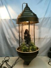 Vintage Grist Mill Hanging Mineral Oil Rain Lamp Works 34in 1970s