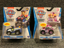 NEW! Nickelodeon (2) Paw Patrol Toys True Metal SKYE & CHASE vehicles HTF