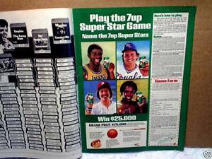 1981 7UP Magic Johnson,george brett,sugar ray leonard AD PRINT ONLY,mike schmidt