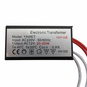 Mini Halogentrafo & LED Trafo 20-50W 12V AC Transformator 50 Watt Unterputzdose