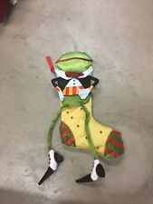 """""""Krinkles"""" Dept 56 by Patience Brewster Rare Prince Frog Christmas Stocking"""