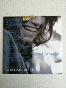 MICOL BARSANTI - RIDO ALCIELO - CD SINGOLO PROMO - NUOVO