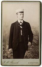 Cdv. Student, Wüst, Kempten, Orig.-Photo um 1900