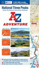 National Three Peaks Adventure Atlas by A-Z Maps (Paperback, OS 25000 maps)